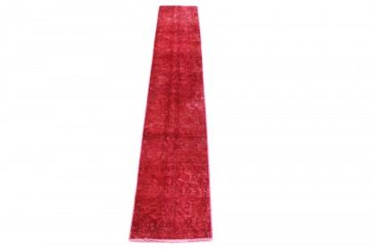 Vintage Teppich Läufer Rot in 240x40