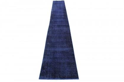 Vintage Teppich Läufer Blau in 610x80