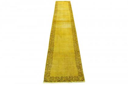 Vintage Teppich Gelb in 470x80