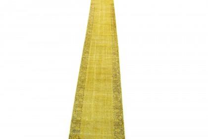 Vintage Teppich Läufer Gelb in 610x80