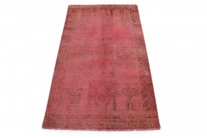 Vintage Teppich Rot Rosa in 200x110