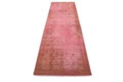 Vintage Teppich Läufer Rot Rosa in 290x90