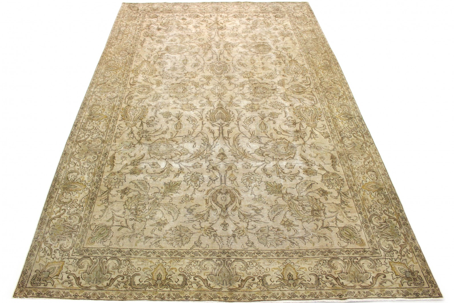 Vintage Teppich Beige Braun Grau in 480x290 (1 / 6)