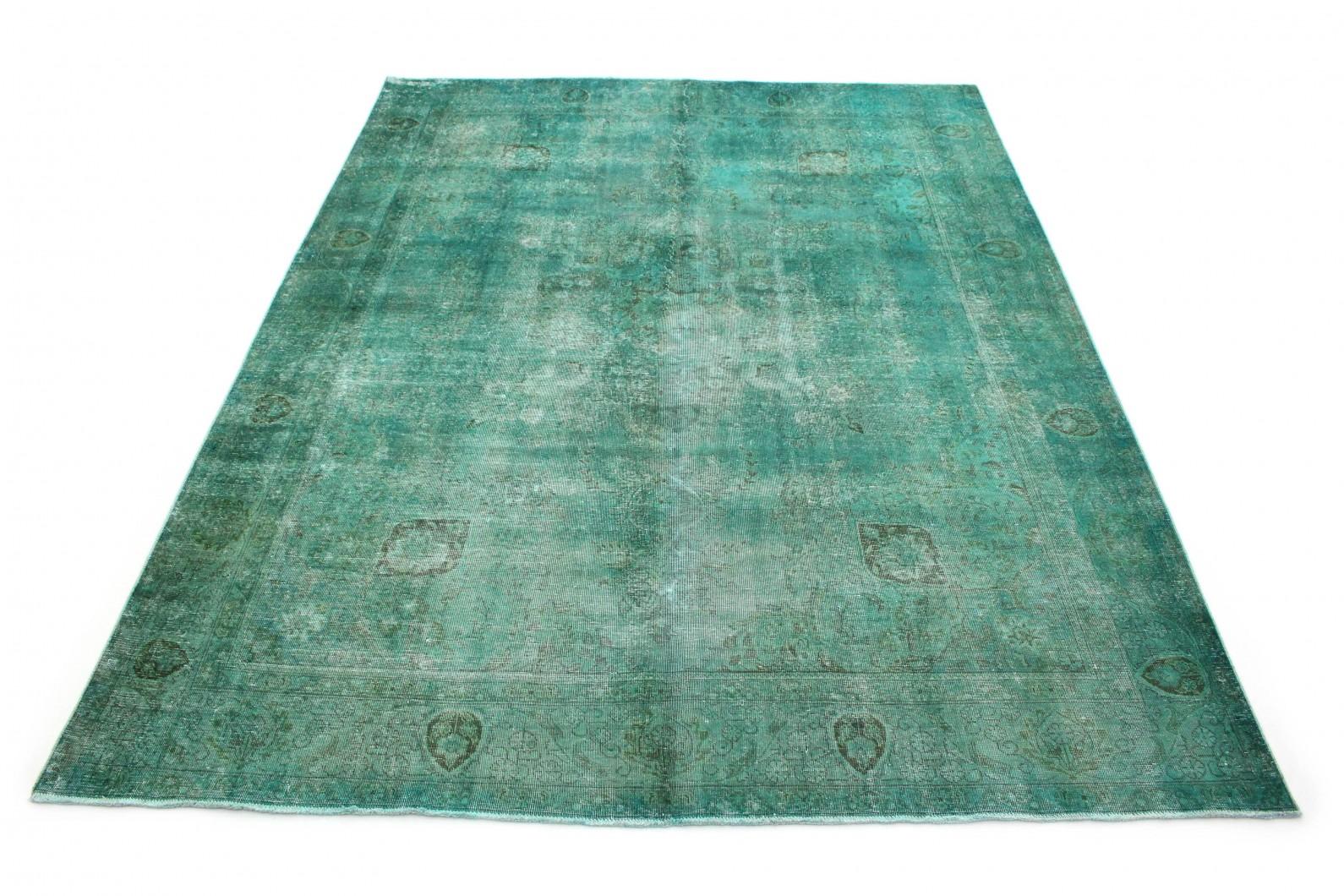 Vintage Teppich Grün Türkis in 390x300 (1 / 6)