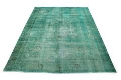 Vintage Teppich Grün Türkis in 390x300