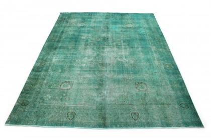 Vintage Rug Green Turquoise in 390x300