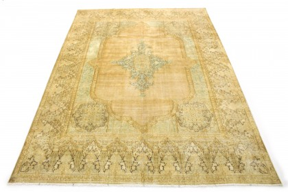 Vintage Teppich Beige Gold in 420x300