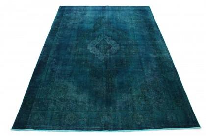 Vintage Teppich Türkis Blau in 390x280