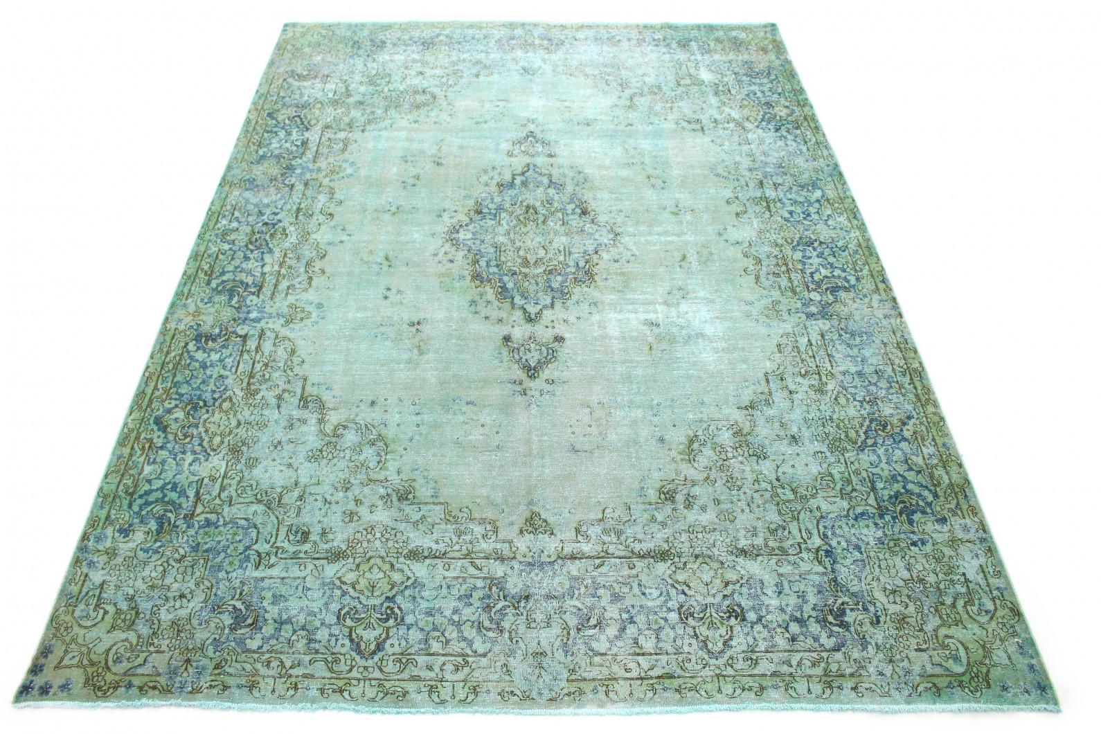Vintage Teppich Türkis Grün in 410x300 (1 / 6)