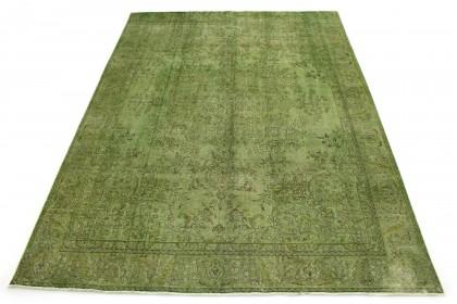 Vintage Teppich Grün in 390x290