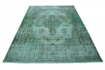 Carpetido Design Vintage-Teppich Grün in 500x340