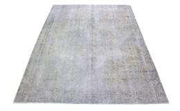 Carpetido Design Vintage-Teppich Beige Weiß Blau in 340x260
