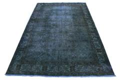 Carpetido Design Vintage-Teppich Blau Grün Petrol in 310x200