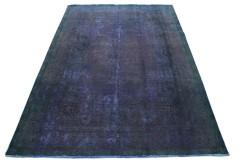 Carpetido Design Vintage-Teppich Lila Blau Grün in 350x250