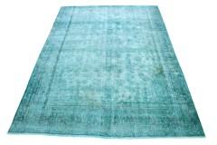 Carpetido Design Vintage-Teppich Türkis Grün in 350x250