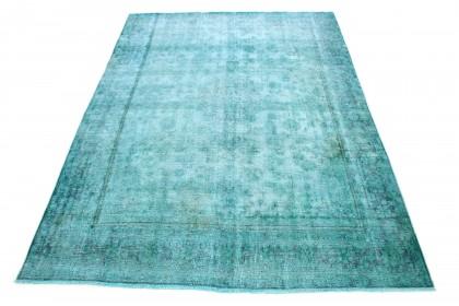 Carpetido Design Vintage Rug Turquoise Green in 350x250