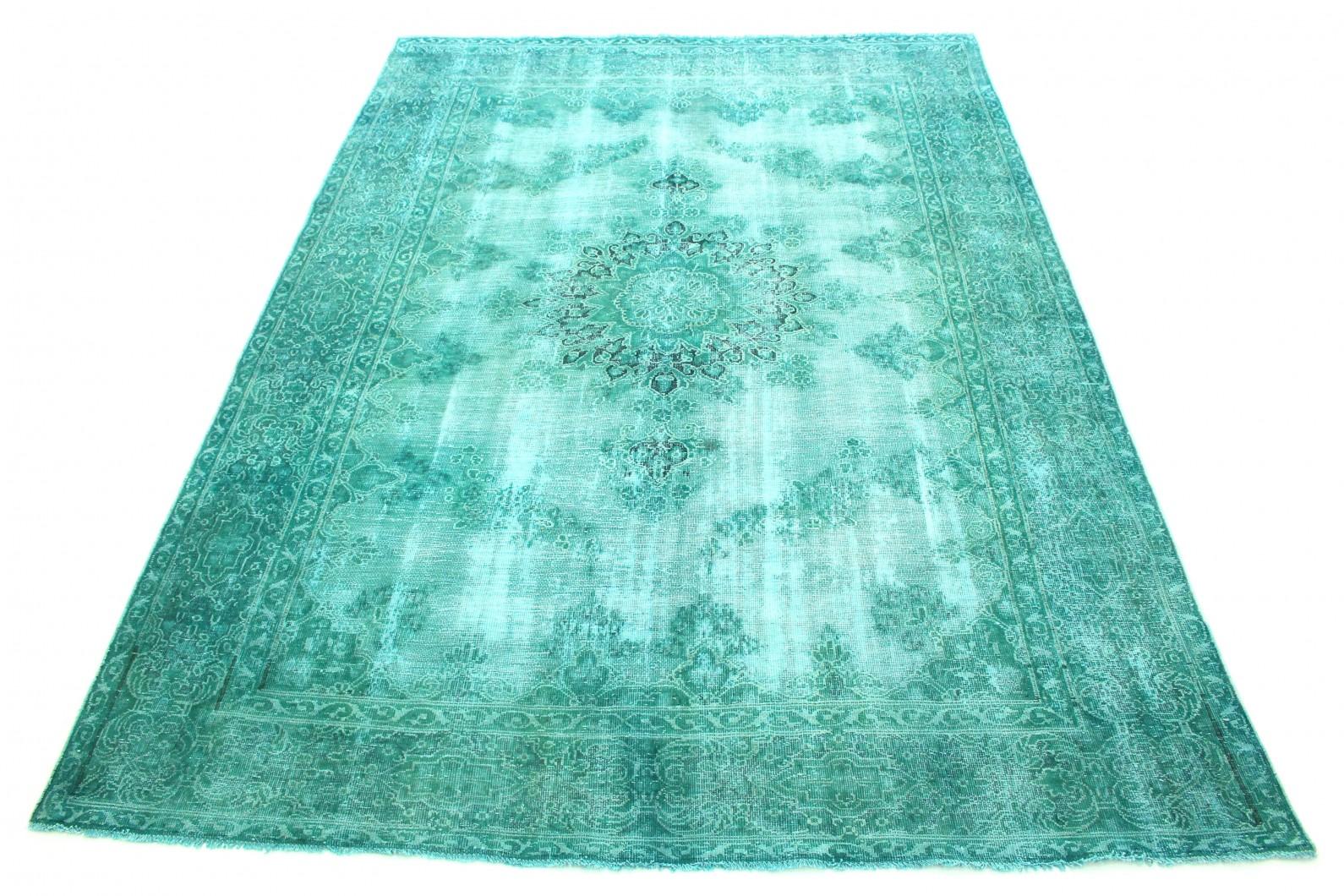 Carpetido Design Vintage-Teppich Grün Türkis in 360x260 (1 / 8)