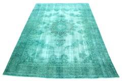 Carpetido Design Vintage-Teppich Grün Türkis in 360x260