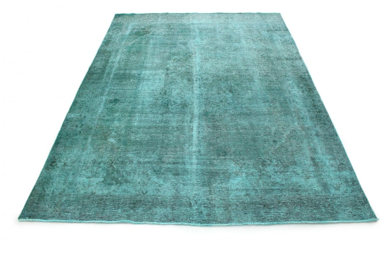 Carpetido Design Vintage-Teppich Türkis in 370x270 (1 / 8)
