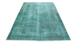 Carpetido Design Vintage-Teppich Türkis in 370x270