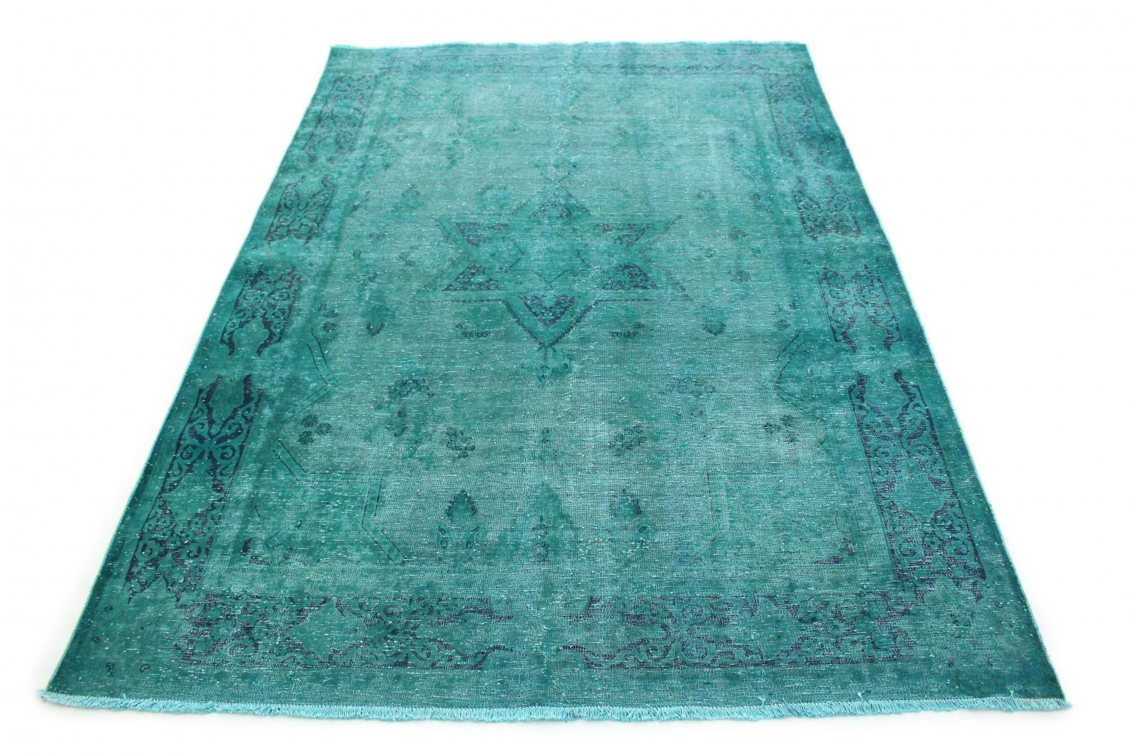 Carpetido Design Vintage-Teppich Türkis Blau in 280x190 (1 / 8)