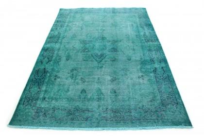 Carpetido Design Vintage-Teppich Türkis Blau in 280x190