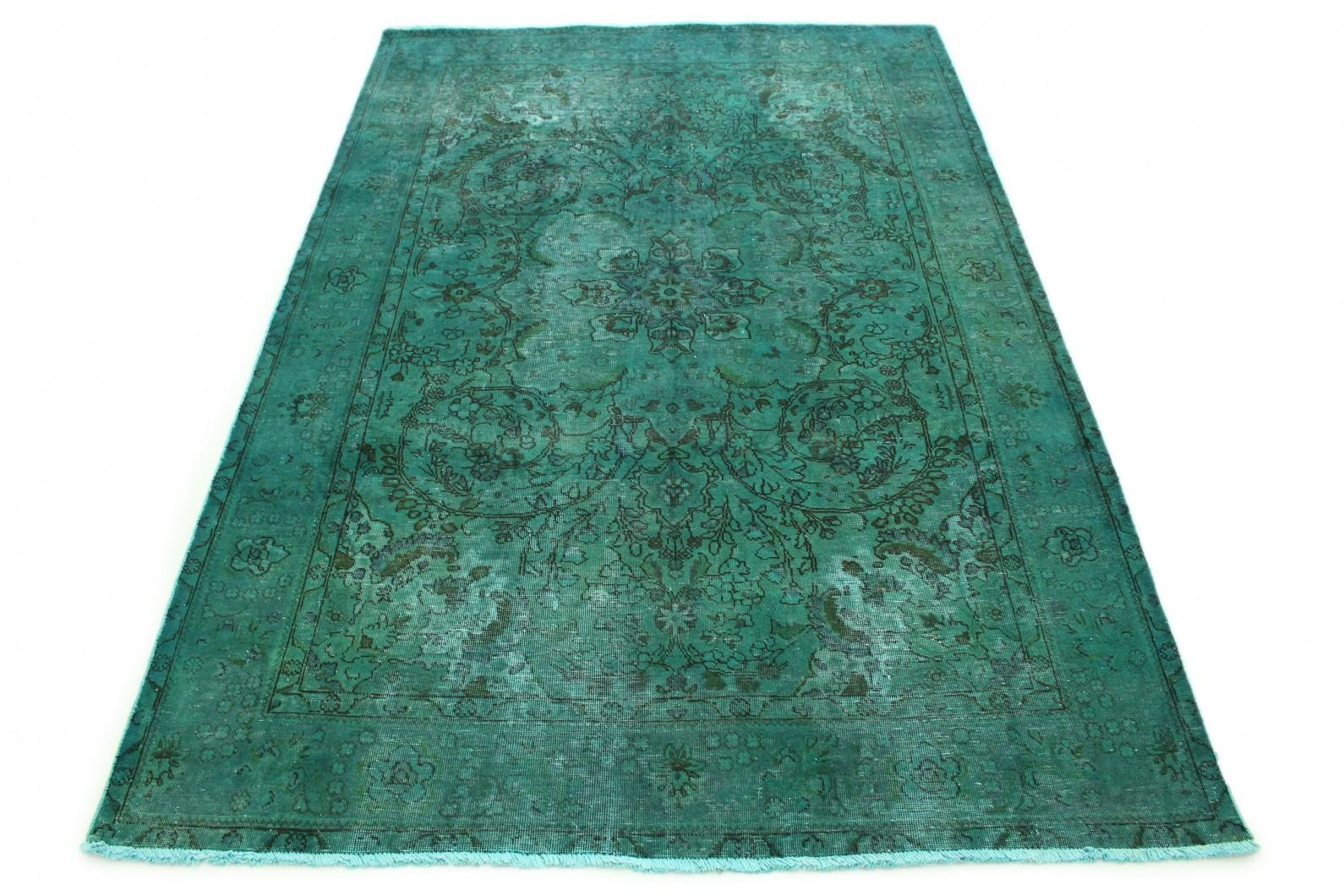 Carpetido Design Vintage-Teppich Grün in 300x200 (1 / 7)