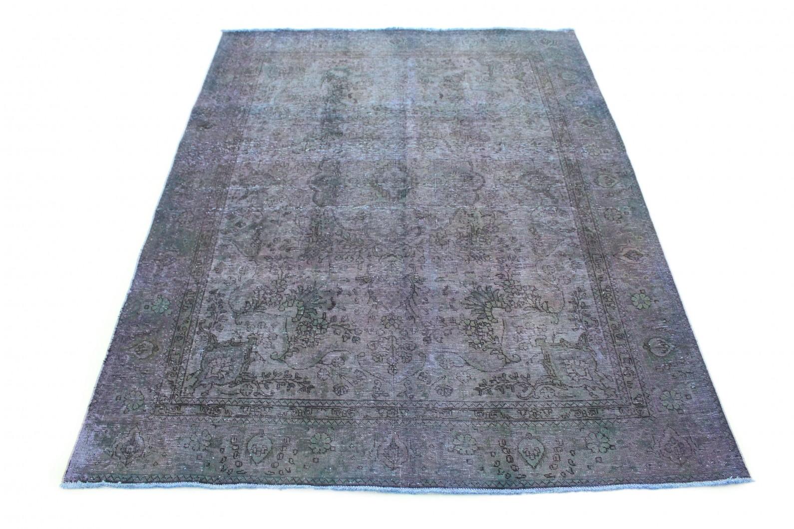 Carpetido Design Vintage-Teppich Lila Blau Grün in 270x200 (1 / 8)
