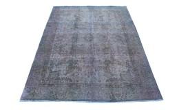 Carpetido Design Vintage Rug Purple Blue Green in 270x200