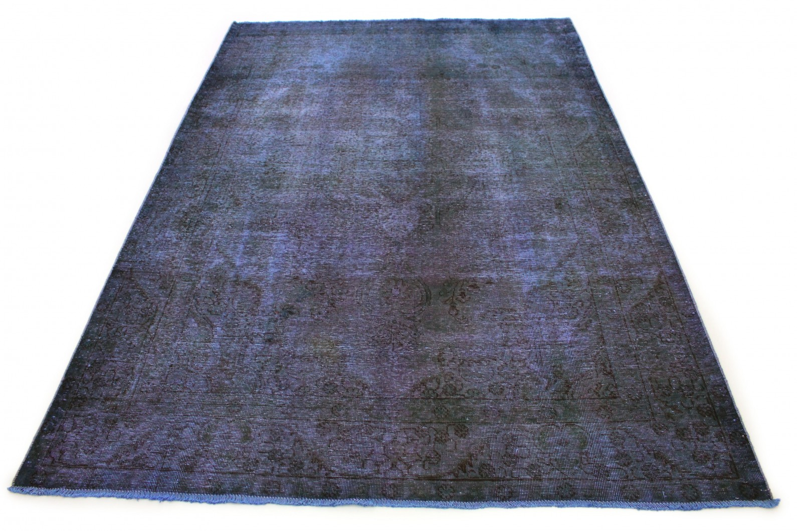 Carpetido Design Vintage-Teppich Blau Lila in 290x200 (1 / 5)