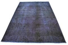 Carpetido Design Vintage-Teppich Blau Lila in 290x200