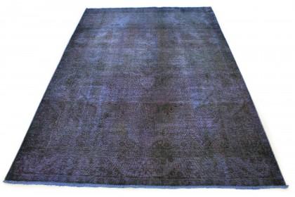 Carpetido Design Vintage Rug Blue Purple in 290x200