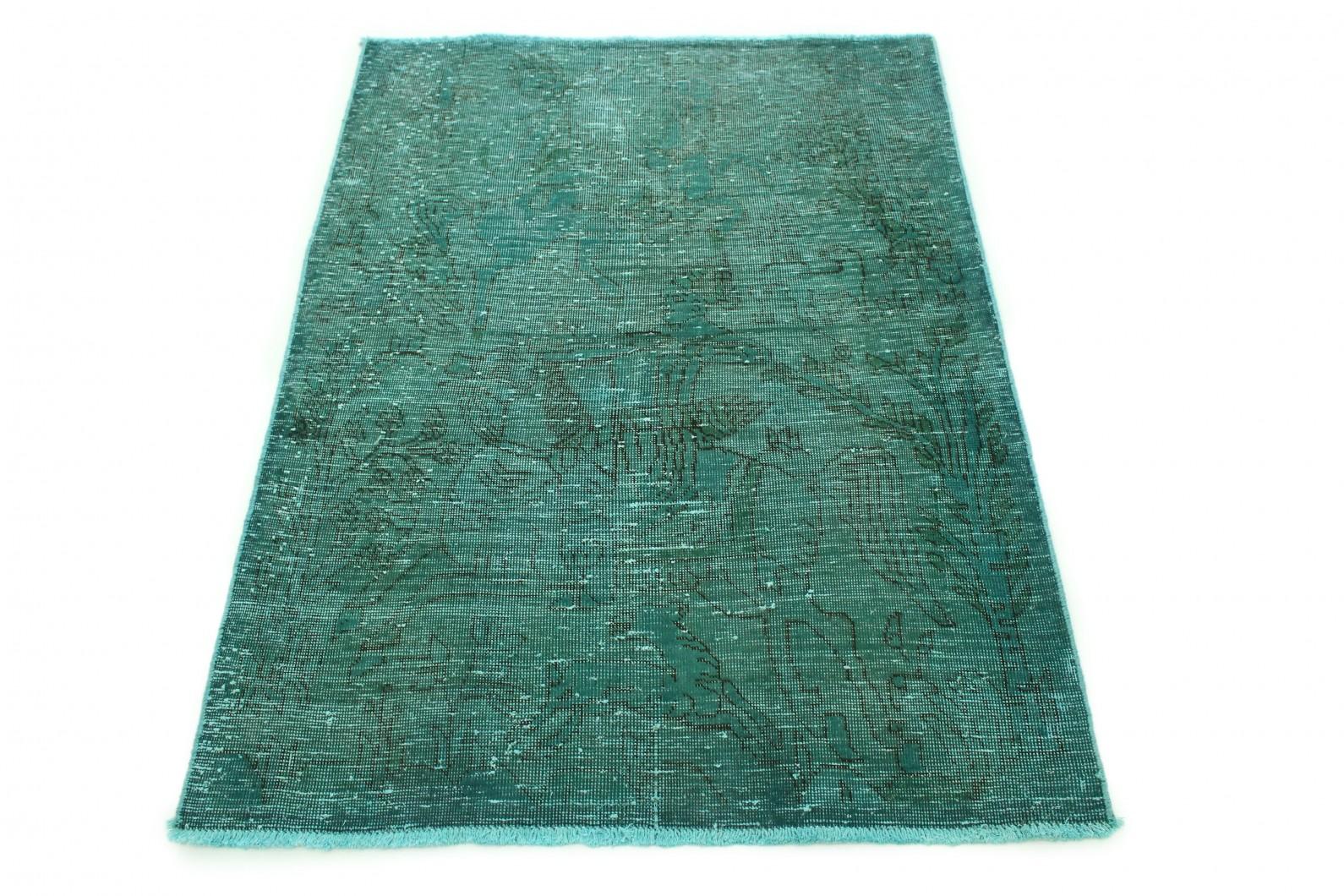 Carpetido Design Vintage-Teppich Grün in 140x110 (1 / 4)