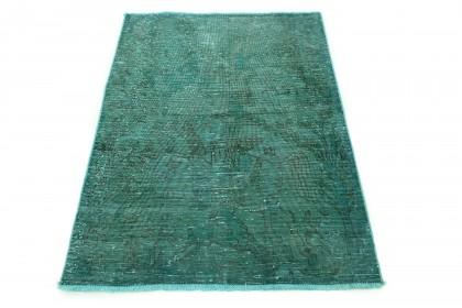 Carpetido Design Vintage-Teppich Grün in 140x110