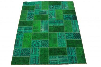 Patchwork Teppich Grün in 200x160cm