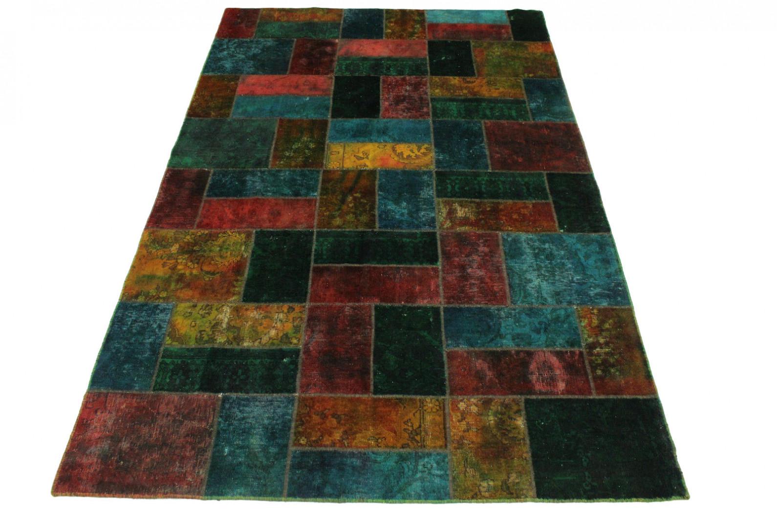 patchwork teppich gr n rot curry in 310x200cm 1001 1934 bei kaufen. Black Bedroom Furniture Sets. Home Design Ideas