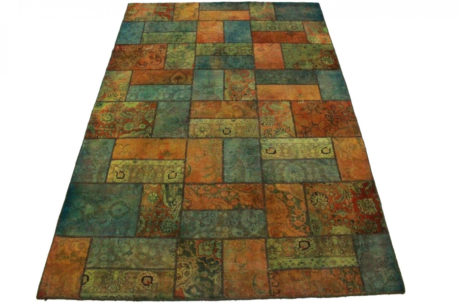 patchwork teppich orange t rkis in 310x200cm 1001 1936 bei kaufen. Black Bedroom Furniture Sets. Home Design Ideas
