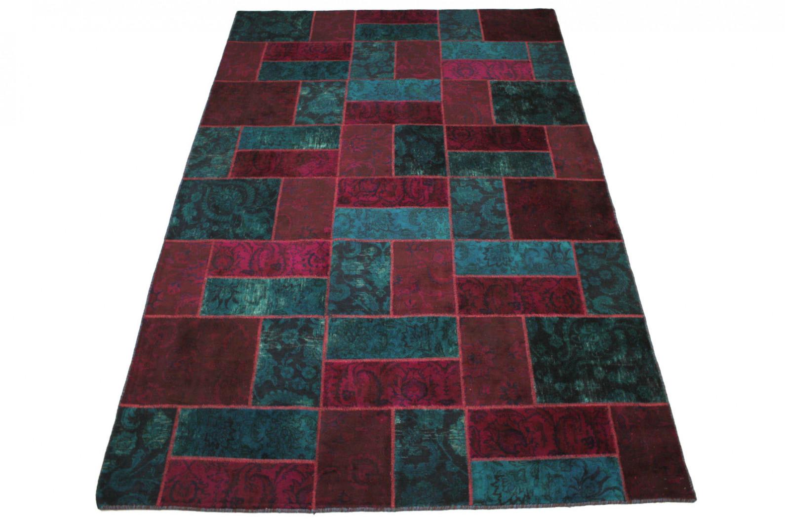 patchwork teppich rot blau in 310x200cm 1001 1951 bei kaufen. Black Bedroom Furniture Sets. Home Design Ideas