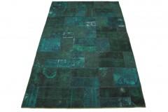 Patchwork Teppich Blau Türkis in 310x200cm