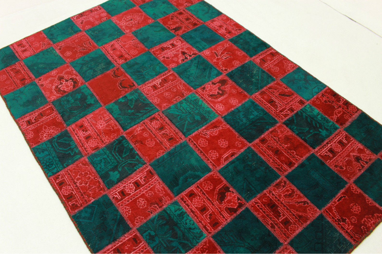 Patchwork Rug Red Turquoise In 200x140cm 1001 1975 Buy