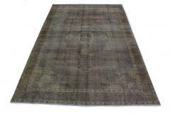 Carpetido Design Vintage-Teppich Anthrazit Grau Schwarz in 390x270