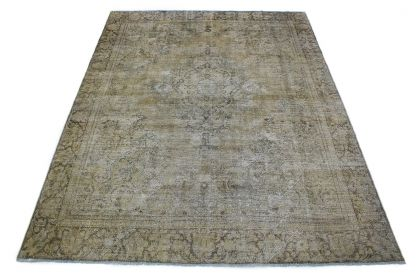 Carpetido Design Vintage-Teppich Grau in 340x260