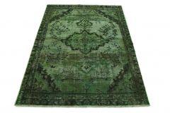 Carpetido Design Vintage-Teppich Grün in 180x130