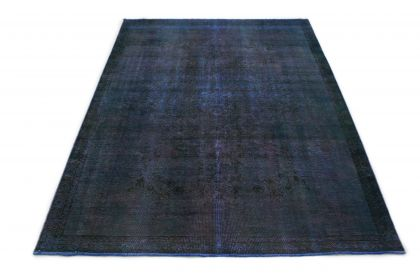 Carpetido Design Vintage-Teppich Blau in 320x220