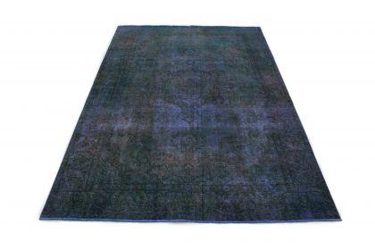 Carpetido Design Vintage-Teppich Blau in 320x210