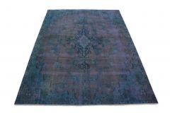 Carpetido Design Vintage-Teppich Blau Lila in 300x210