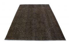 Carpetido Design Vintage-Teppich Grau Schwarz in 340x250