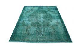 Carpetido Design Vintage-Teppich Türkis in 310x230
