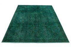 Carpetido Design Vintage-Teppich Grün Türkis in 310x230