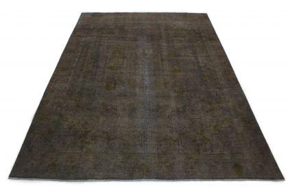 Carpetido Design Vintage-Teppich Olivgrau in 380x280